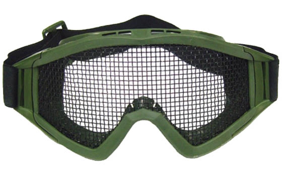 MASCHERA SNOW TACTICAL VERDE CON RETE (ROYAL)
