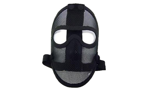 MASCHERA TACTICAL FULL FACE NET METAL NERA (ROYAL)