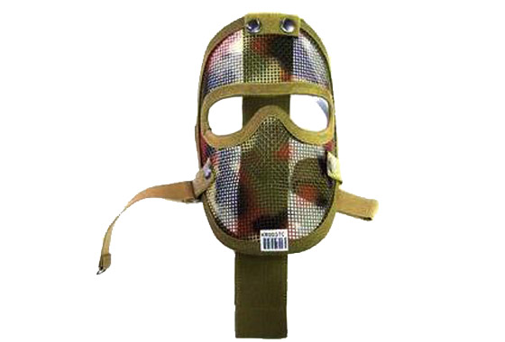 MASCHERA TACTICAL FULL FACE NET METAL WOODLAND (ROYAL)