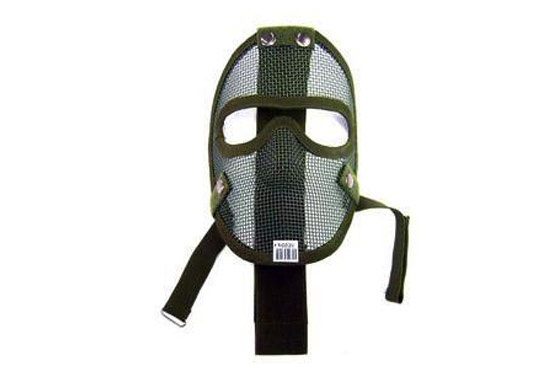 MASCHERA TACTICAL FULL FACE NET METAL VERDE (ROYAL)