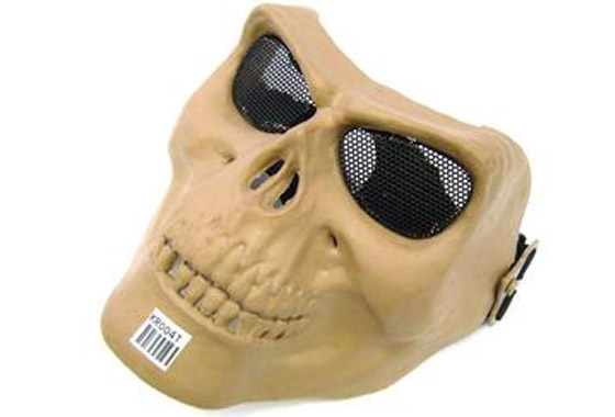 MASCHERA TACTICAL SKULL TAN IN TESCHIO (ROYAL)