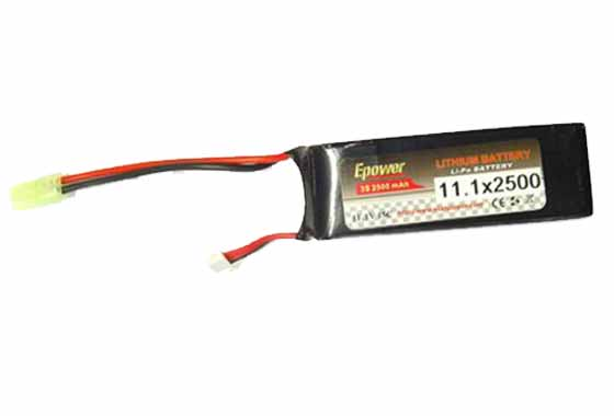 BATTERIA LIPO 2500mAH 11.1V 15C E-POWER GOLDEN BOW (11 1X2500 15