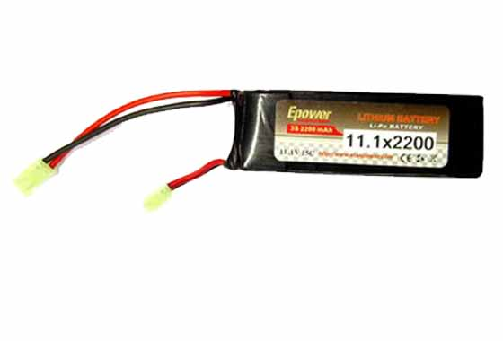 BATTERIA LIPO 2200mAH-11,1V E-POWER(GOLDEN BOW)