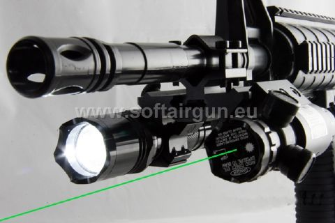 QD 2 Sides Barrel JG016 Green Laser R2 LED Torch Module