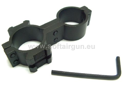 25mm Dual Hole Barrel Laser Flashlight Scope Rail Mount