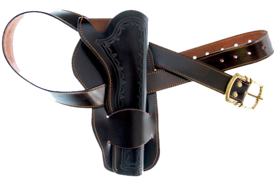 Single western leather holster cod.3900723
