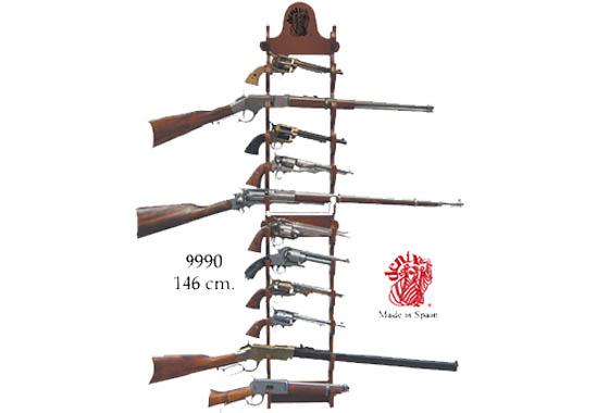 Espositore in legno rastrelliera x fucili e pistole 12 for Rastrelliera per fucili softair