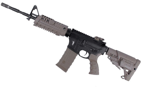 M4 TACTICAL RIS FULL METAL TAN CAA AIR SOFT DIVISION