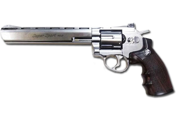 "REVOLVER 703 SILVER 8"" GAS CO2 FULL METAL (WG)"