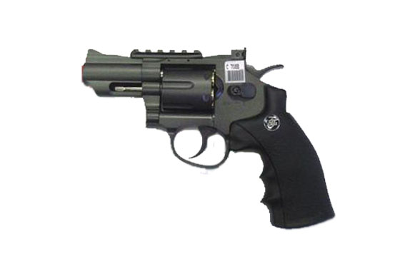 "REVOLVER 708 NERA DA 2,5"" GAS CO2 FULL METAL (WG)"