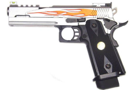 HI-CAPA FLAME 5.1 FULL METAL-SILVER- WE