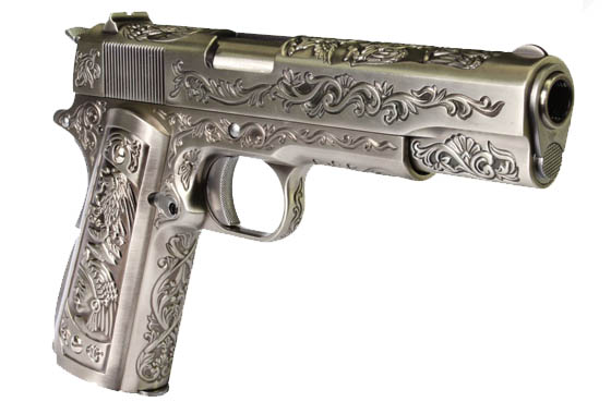 WE 1911 Silver  Floral Inca Chrome Special Edition