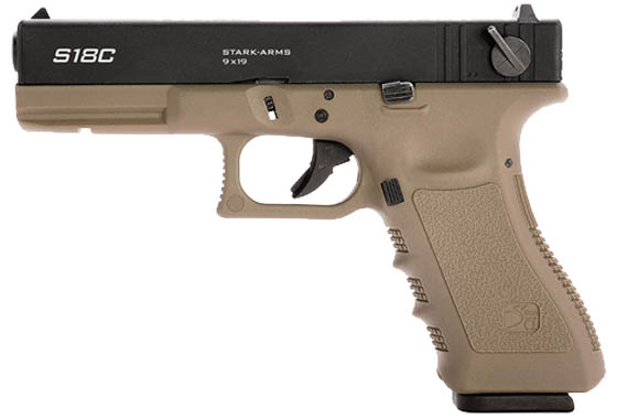 Pistola a gas G18 TAN Raffica Scarrellante Stark Arms Full Metal