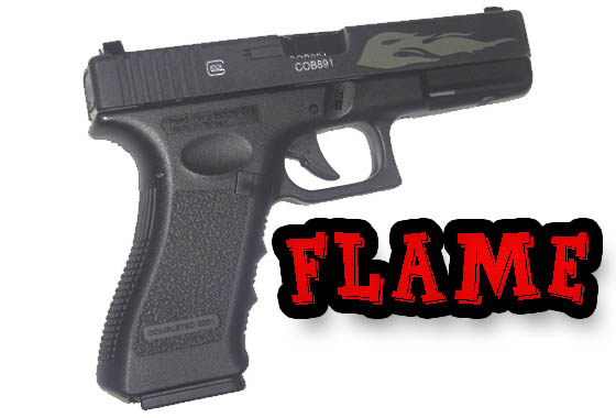 Glock 17 Flame Limited Edition Scarrellante gas