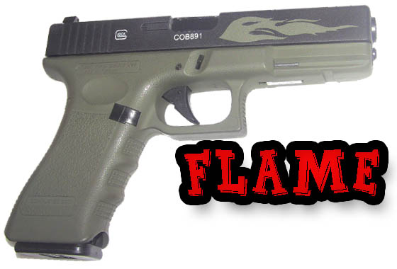 Glock 17 VERDE OD  Flame Limited Edition Scarrellante gas