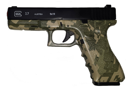 GLOCK 17 SCARRELLANTE FULL METAL BICOLOR DIGITAL