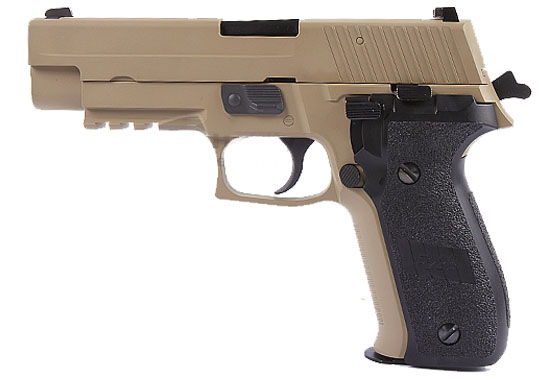 PISTOLA P226 MK25 TACTICAL TAN GAS SCARRELLANTE (WE)
