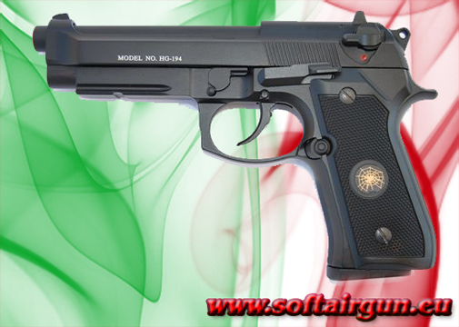 Pistola B92SF SCARRELLANTE FULL METAL