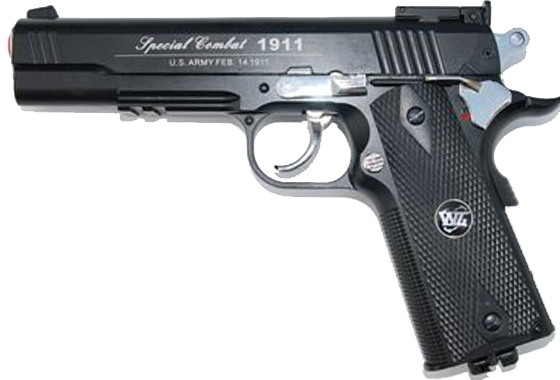 1911A1 CO2 SCARRELLANTE FULL METAL NERA (WG)