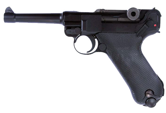 P08 S LUGER NERA GAS SCARRELLANTE FULL METAL WE