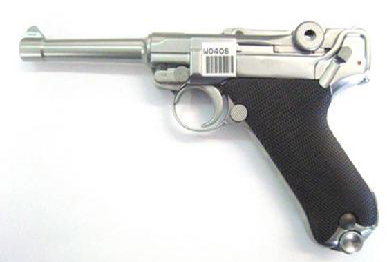 P08 S LUGER SILVER GAS SCARRELLANTE FULL METAL(WE)