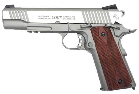 COLT 1911 A1 RAIL GUN STAINLESS SCARRELLANTE FULL METAL