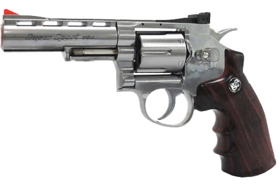 REVOLVER 701 GAS CO2 FULL METAL SILVER WIN GUN (C701S)