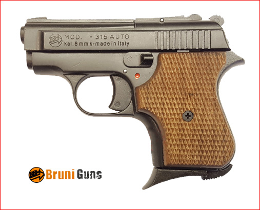 PISTOLA A SALVE MODELLO ME 315 CAL. 8 MM BRUNITA Wood
