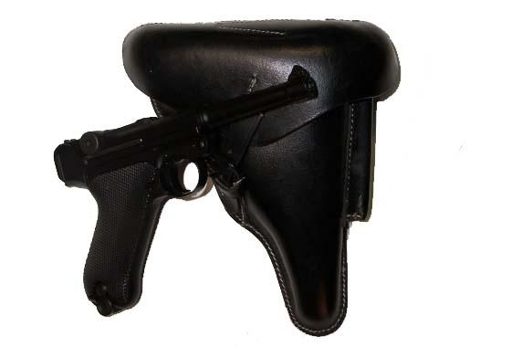 Fondina Luger P08 Luftwaffe Tedesca ww2 cuoio nero