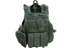 CORPETTO TATTICO HIGH FORCE VERDE CON 7 TASCHE E MOLLE (MIL-TEC)