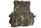 CORPETTO TATTICO HIGH FORCE WOODLAND 7 TASCHE E MOLLE (MIL-TEC)