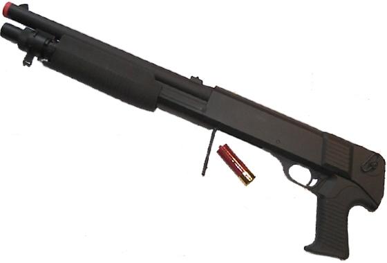 Fucile a Pompa spara 3 colpi alla volta con carutccia