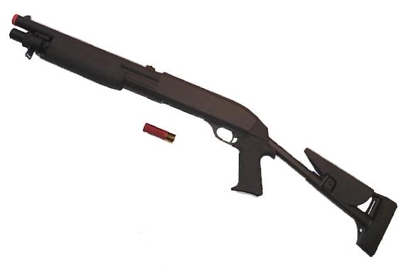 Fucile a Pompa spara 3 colpi alla volta calcio retrattile