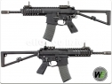 W.E. PDW FULL METAL GAS BLOWBACK RIFLE BLACK