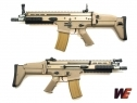 z W.E. SCAR FULL METAL GAS BLOWBACK RIFLE TAN