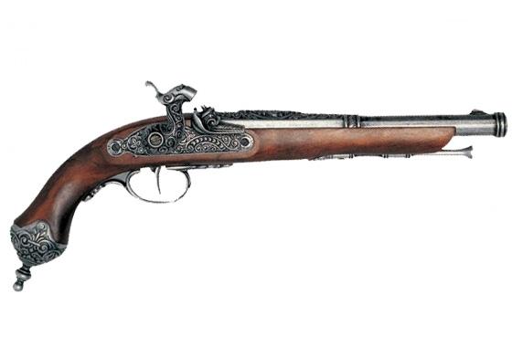 Pistola avancarica a percussione Brescia (Italia) 1825 cod.39010