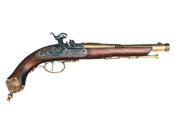 Pistola avancarica a percussione Brescia (Italia) 1825 Gold cod.