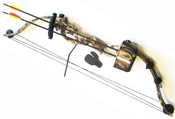 Arco carrucolato con frecce Mimetico Camo